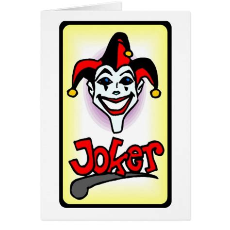 printable joker card joker poker playing card zazzle