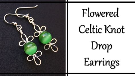 how to make celtic knot jewelry how to make celtic knot drop earrings wire wrapped