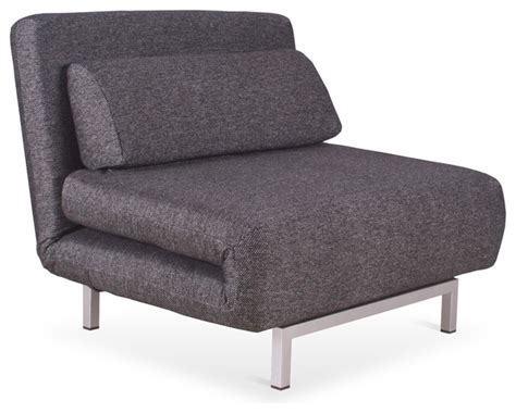Lounge Chair Bed by Copperfield Grey Black Chair Bed Modern Futons