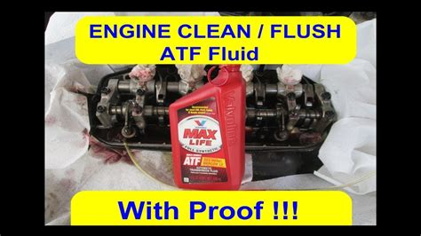engine carbon clean flush lifters rods rollers camshaft  proof atf fluid honda