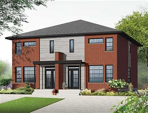 narrow lot multi family house plans narrow lot multi family home plan 22327dr canadian metric narrow lot 2nd floor