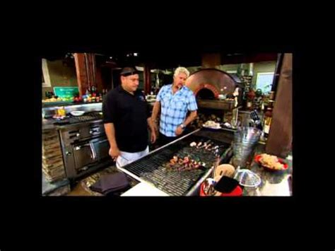guy fieri s home kitchen design guy s big bite back yard mediterranean surf turf mp4