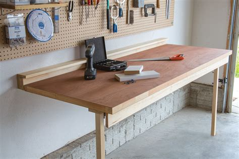 wall bench design drop down workbench buildsomething com