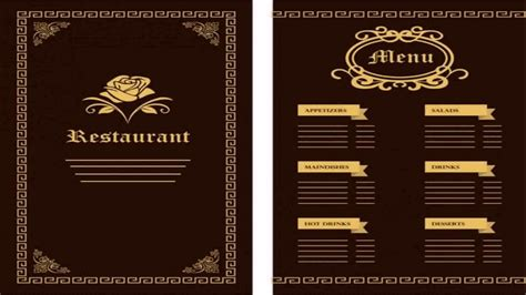 house template for adobe illustrator restaurant menu template adobe illustrator youtube