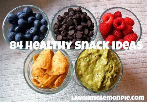 84 healthy snack ideas