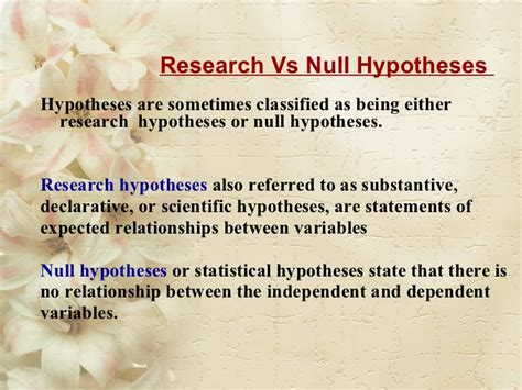 exle of null hypothesis in research paper null hypothesis essay