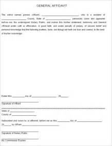 General Affidavit Template by Affidavit Form Templates Free Premium Templates