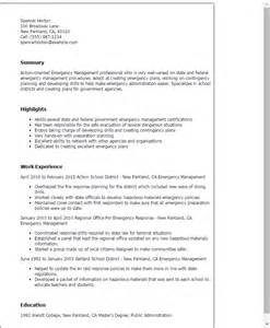 management resume templates professional emergency management templates to showcase
