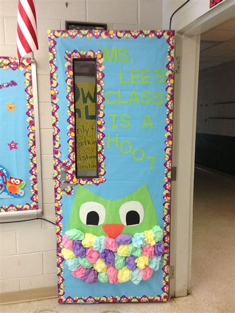 school door decorating owl themed classroom door megan hanson might like this craft ideas owl theme