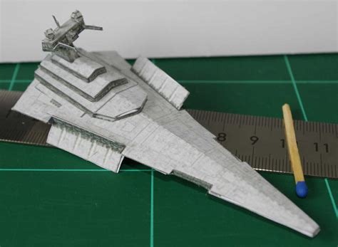 Destroyer Papercraft - victory class destroyer wars miniature by