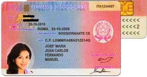 documento per carta di soggiorno permesso di soggiorno in italia