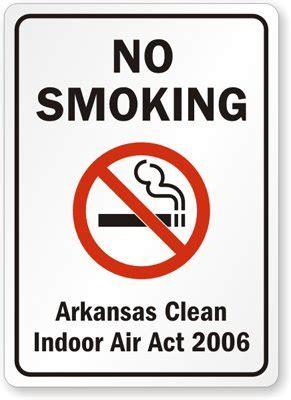 no smoking signs health act 2006 no smoking arkansas clean indoor air act of 2006 aluminum