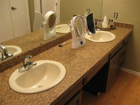 replace bathroom countertop taking off an old bathroom laminate countertop and installing a new one how to build