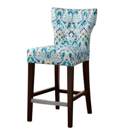Tufted Back Counter Stool by Saffron Tufted Back Counter Stool Multicolor 25 Quot Target