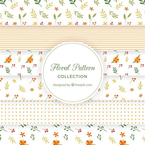 svg pattern collection retro floral pattern collection vector free download