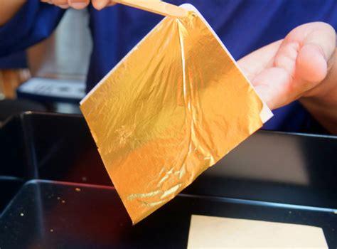 Gold Leaf Lembaran Emas 10lembar kamu harus coba es krim matcha berhias lapisan emas net z