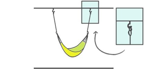 how to hang a hammock hanging indoors outside with