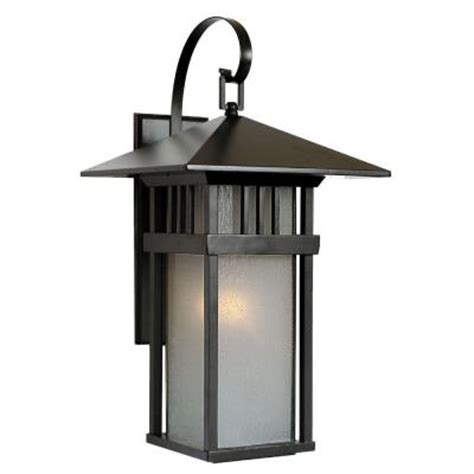 Discontinued Outdoor Lighting Acclaim Lighting Bali Collection Wall Mount 1 Light Outdoor Matte Black Light Fixture
