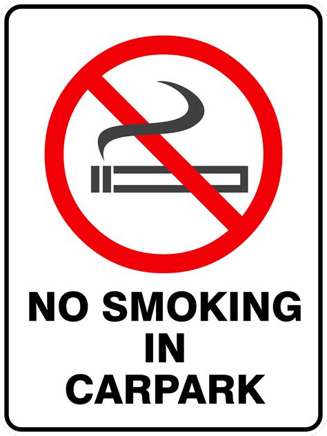 no smoking sign for car no smoking in carpark discount safety signs new zealand