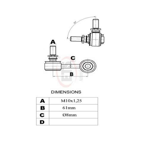 Joint Stabilizer Stabil Link Hyundai Accent Verna 00 Up Rh 2 hyundai matrix fc front stabilizer link lh details ets auto