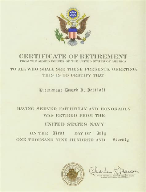 navy retirement certificate pics photos retirement certificates template this is your