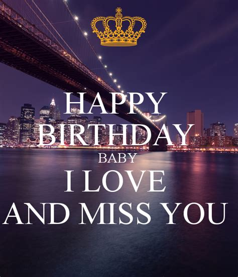 download mp3 five minutes love you miss you happy birthday baby i love and miss you poster michelle