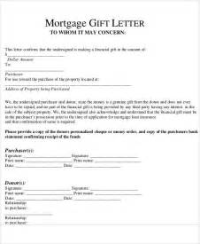 Mortgage Gift Letter Nationwide Sle Gift Letters 41 Exles In Pdf Word