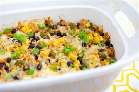 vegetarian bean and rice recipe vegetarian rice bean casserole