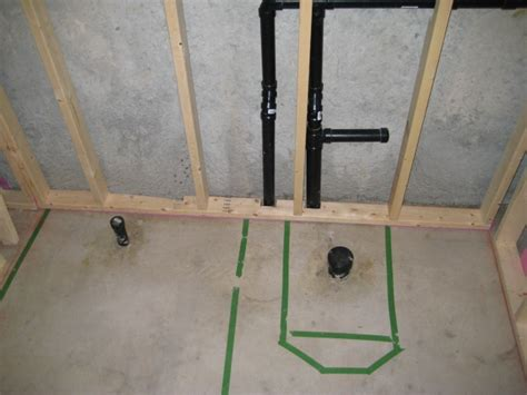 roughed in basement bathroom plumbing why is it best to hire a contractor for basement plumbing