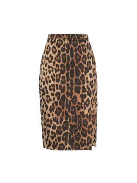 altuzarra leopard print pencil skirt lyst