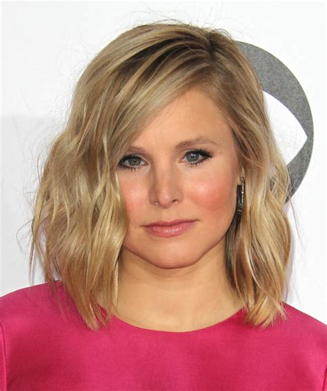 Kristen Bell Hairstyles by Kristen Bell Medium Wavy Casual Hairstyle