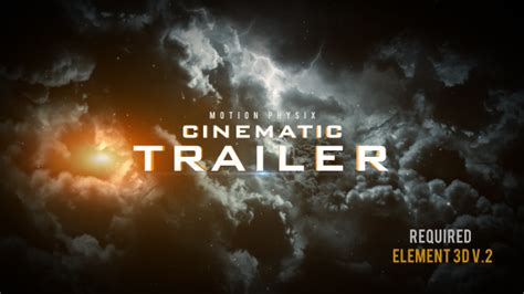 Cinematic Trailer Abstract After Effects Templates F5 Design Com Cinematic After Effects Template
