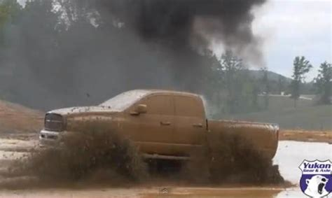 cummins charger rollin coal muddy mondays cummins ram rollin coal in the mud