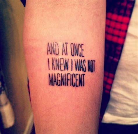 bon iver tattoo and at once i knew i was not magnificent tattoologist