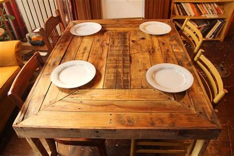 wooden pallet dining table recycled pallet dining tables pallet wood projects