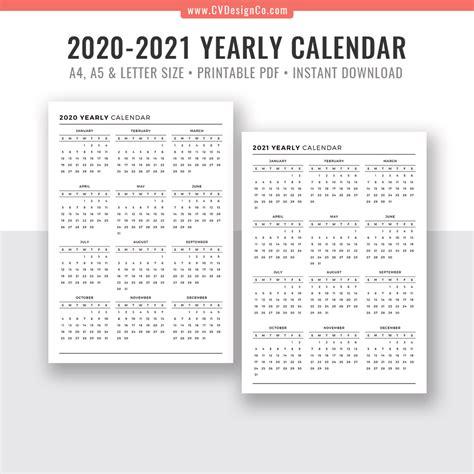 printable calendar year   glance  calendar printables  templates