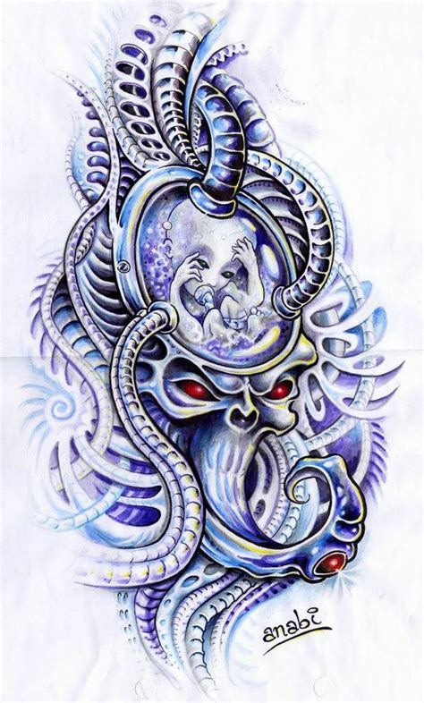 biomechanical tattoo artists ta biomechanical child by anabi on deviantart