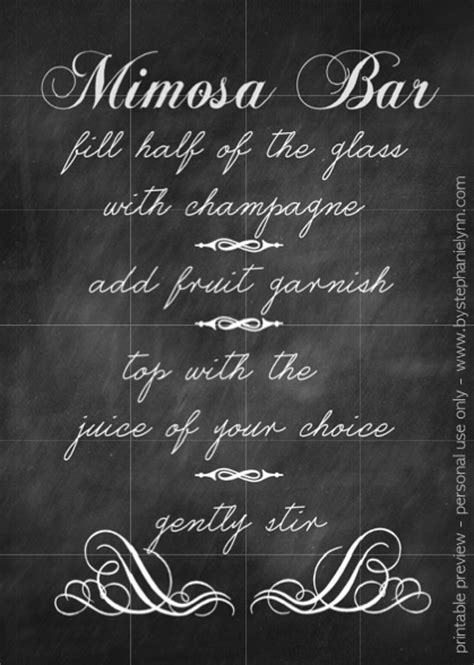 Free Printable Mimosa Bar Sign