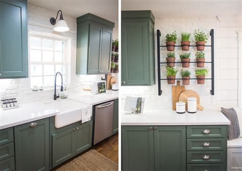 To Market Green Kitchen by Green Cabinets Fixer Kitchen Faucet