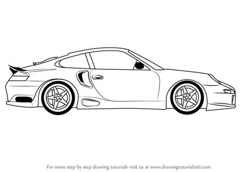 sports car drawing learn how to draw a porsche car side view sports cars