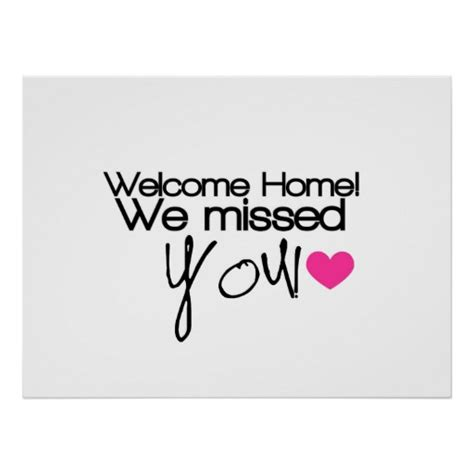 printable we missed you banner welcome home we missed you posters zazzle