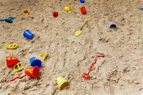 sand in pit sand pit with toys free stock photo domain pictures