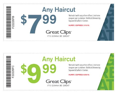 haircut coupons in mn great clips of bozeman msu student survival kit