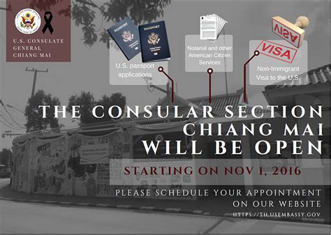 consular section chiang mai consular section renovation visa services and