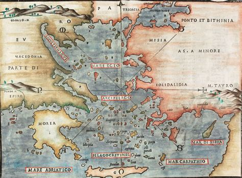 aegean sea map aegean sea greece turkey bordone greece aegean sea cyprus 1528
