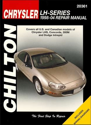 motor auto repair manual 2004 dodge intrepid electronic toll collection dodge intrepid chrysler lhs concorde 300m repair manual 1998 2004