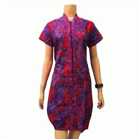 Blouse Lengan Balon Ikat dress batik model balon kerah v lengan pendek fashions