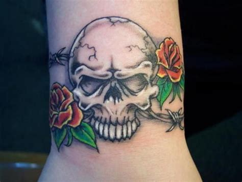 skull with roses tattoo meaning meanings