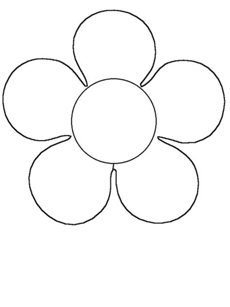 Simple Flower Coloring Pages For Preschoolers   grig3.org