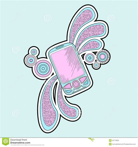 doodle mobile mobile phone doodle royalty free stock photo image 25779625